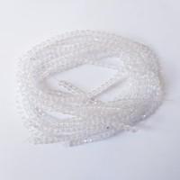Manik-Manik Bentuk Bulat 4mm Warna Putih Transparan (1 Renteng)