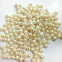 Manik-manik plastik bola cream pelangi 6mm (23gr)
