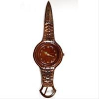 Jam Dinding Unik Dari Kayu Jati Model Jam Tangan Krepyak