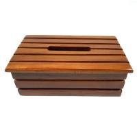 Kotak Wadah Tempat Tisu Model Salur Dari Kayu Jati Asli Antik Unik