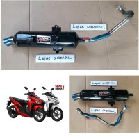 knalpot racing bobokan vario 125 150 fi LED new 2018 pelangi csr