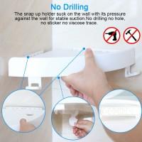 Rak Gantungan Sudut Dinding Kamar Mandi Multifungsi Corner Shelf