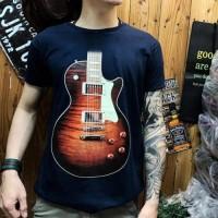 Kaos distro pria music motif gitar kaos music kaos pria T shirt pria