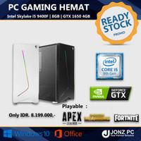 PC Gaming   i5 9400F   8GB   GTX 1650   Paket Hemat