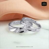 Cincin Kawin/Tunangan Emas Putih Palladium EP0028PD