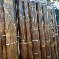 tirai bambu item sudah di vhernis ukuran 2x2,5