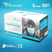Masker Alcatroz Care Face 3 PLY Disposable Surgical Earloop -50 PCS