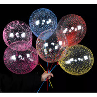 Balon latex LED transparan/Balon Bintang LED/Balon 12inch