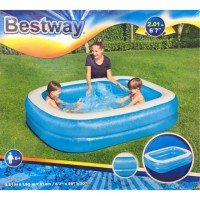 Kolam Renang Tiup Anak Kotak 2 meter BESTWAY Blue Rectangular Pool 201