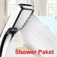 Shower Paket Mandi 300 Lubang Tekanan Tinggi Pancuran Aerator Kepala