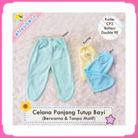 Celana Panjang Bayi Tutup Kaki Polos Warna Halus