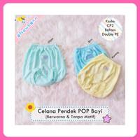 Celana Pop / Celana Kacamata / Celana Pendek Bayi Newborn Polos Warna