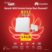 Home Router Huawei 4G LTE B312 Unlocked Free Tsel 14GB Garansi Resmi
