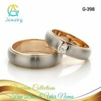 Cincin Kawin Couple Palladium Sepasang Cincin Nikah Tunangan G-398