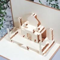 Kartu Ucapan Lebaran Pop-up 3D Taj Mahal