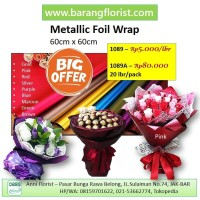 Metallic Foil Wrap (1089) 1 lbr, Aksesoris Toko Bunga, Kertas Bunga