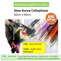 New Korea Cellophane (1298) 1 lbr, aksesoris toko bunga, kertas bunga