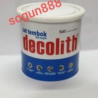 Cat Tembok Decolith 1 kg warna Putih/Hitam/Sws