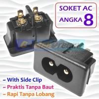 Soket AC angka 8 Standar Power Outlet Socket Switch Colokan Listrik