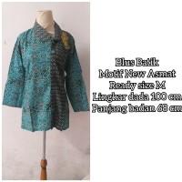 Blus Batik Wanita Lengan Panjang Motif New Asmat