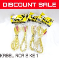 Kabel RCA Audio / Kabel Audio Male To RCA Aux / Kabel RCA 2 ke 1