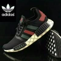 100%Original Gucci x Adidas NMD-R1 sneakers BLACK for men or women