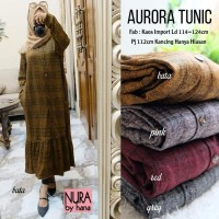 aurora. baju atasan. longtunik. tunik jumbo. kaos import by NURA