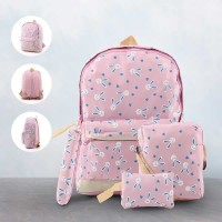 Tas Backpack Anak Perempuan 4 in 1 / Tas Punggung Karakter