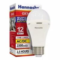 Hannochs genius 12w lampu emergensi murah bohlam emergency 12 watt