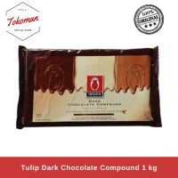 Tulip Dark Chocolate Compound 1kg / Coklat Compound Dark
