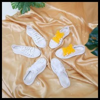 Alivelovearts Eugene Sneakers Lace Brukat Wedges Wanita