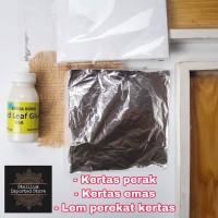 kertas gilding foil sheet paper prada sepuh emas gold leaf sheet 14 cm