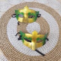 TOPENG PESTA / MASK PARTY - TOPENG VARIASI GLITER HIJAU + GOLD