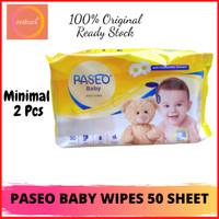 TISSUE PASEO BABY WIPES 50 SHEET - TISSUE BERKUALITAS DARI PASEO