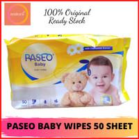 1 DUS (GRAB/GOJEK ONLY) TISSUE PASEO BABY WIPES 50 SHEET