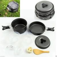 8pcs Alat Masak Outdoor, Kemping, Hiking, Backpacking, Piknik, Set