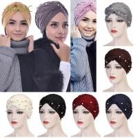 New MAGIC Beads Stretch Head Scarf Head Wrap Indian Hat Women