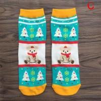 (sun22) Kaos Kaki Natal Anak Laki-laki / Perempuan Gambar Sinterklas