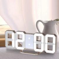 Jam Dinding Digital LED Besar Multifungsi 12H / 24H dengan Display