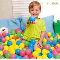 100Pcs Bola Plastik Warna-Warni untuk Mandi Bola