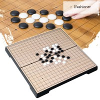 Chinese Old Board Game Checker Folding Table Magnetic Go Chess Set