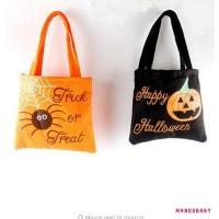 ♬MG♪-1Pcs Halloween Loot Party Pumpkin Trick or Treat Tote Bags