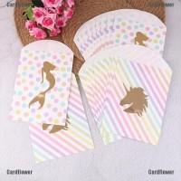 Cardflower❥ 10Pcs Paper Unicorn Candy Bags Mermaid Gift Bags Loot