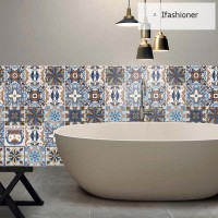 3D Floor Ceramic Tile Sticker Self Adhesive Waterproof Wall Stickers
