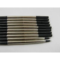 10Pcs Isi Ulang Pulpen Parker Ukuran Medium Tinta Warna Hitam
