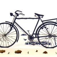 Kartu Ucapan Pop Up 3D Handmade DIY Desain Sepeda untuk Hadiah Ulang