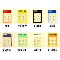 Kalkulator Elektronik Portabel Layar Sentuh LCD 8 Digital Transparan