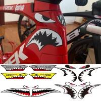 1Set Bicycle Frame Decoration Sticker Shark Head Tube Sticker MTB