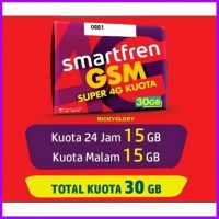 PERDANA SMARTFREN 30GB 15 GB 24 JAM 15GB MALAM