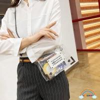 Chd ✿ Tas Selempang Jelly Transparan Tali Rantai untuk Wanita